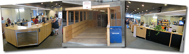 New Library Entrance and Circulation Desk