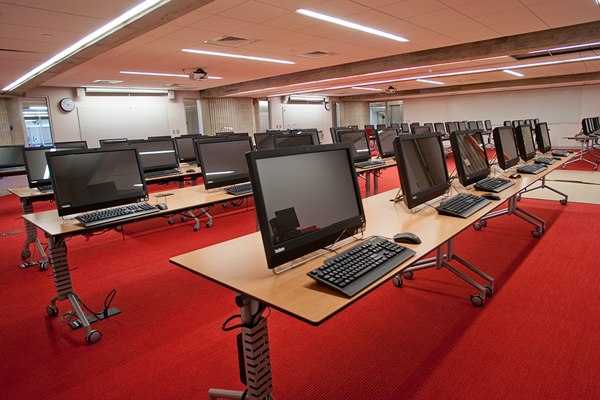 Instruction & Computer Lab Area  - Just Before the Opening - Sept 2012