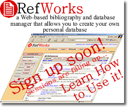 RefWorks Instruction Sessions - Sign Up!