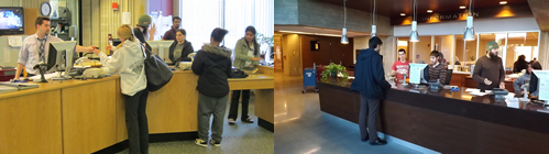 Circulation Desks - Old & New