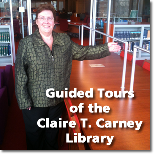 Catherine Fortier-Barnes Leads Library Tour