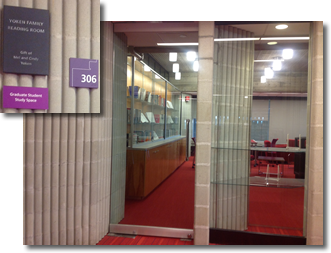 Pic of Graduate Student Study Room & Yoken Signs