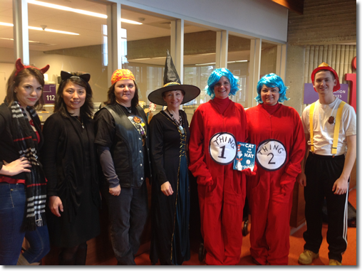 Library Staff Ready to TREAT ALL - Halloween 2013