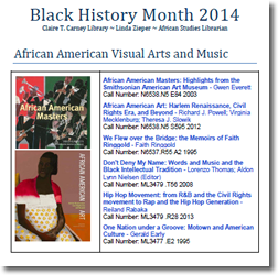 Small image of front page of Black History Month guide