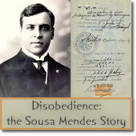 Image of Aristides de Sousa Mendes & visa signed by him