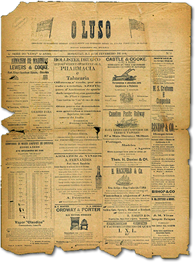 Image of historic OLUSO Portuguese Newspaper