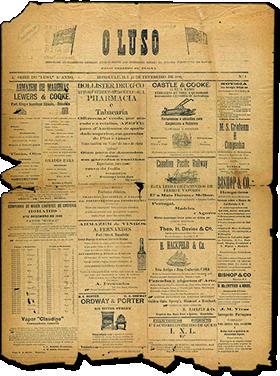 Image of historic OLUSO Portuguese Newspaper