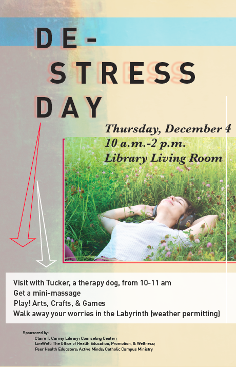 De-Stress Day Poster