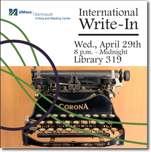 International Write-In - Writing Center Event - Typewritter image