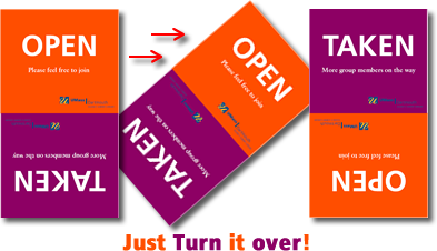 Just Turn It Over: New Library Open/Taken Study Table Signs