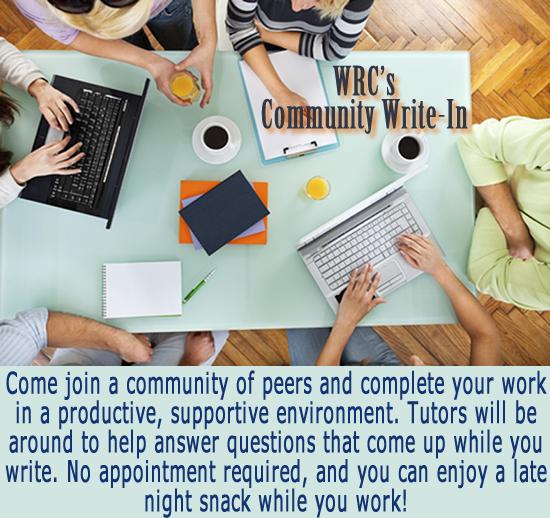 WRC's Community Write-In