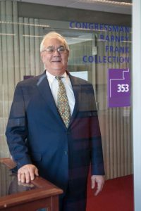 Barney Frank visits UMass Dartmouth to view the Congressman Barney Frank Collection